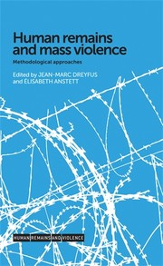 Cover Human remains and mass violence