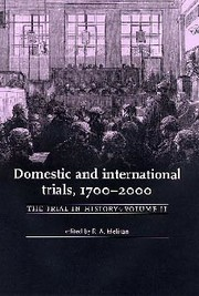 Cover Domestic and international trials, 1700–2000