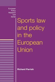 Cover Sports law and policy in the European Union