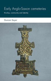 Cover Early Anglo-Saxon cemeteries