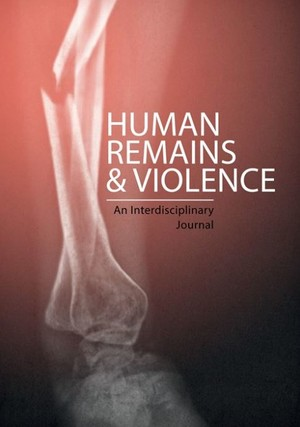 Cover Human Remains and Violence: An Interdisciplinary                Journal
